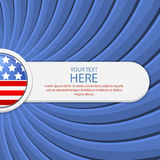 Blue background on the theme of July 4th. With a white banner. Vector illustration Royalty Free Stock Image