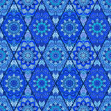 Blue Background Tile Flower Rhombus Royalty Free Stock Photo