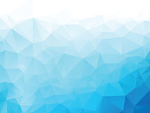 Blue background with triangles stock illustration
