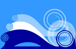 Blue background with twirls. Royalty Free Stock Photos