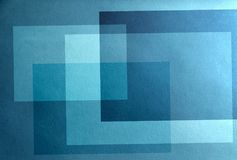 Blue passive abstraction.  Background of blue tranquility. On a blue background, uneven rectangles Royalty Free Stock Image