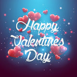 Blue background valentines day vintage lettering background Stock Photography