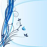 Blue background - vector stock image