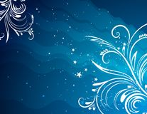 Blue background, vector Stock Photo