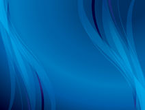 Blue background with wavy lines - vector Stock Photography