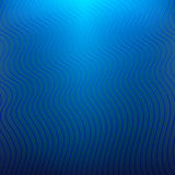 Blue background with wavy lines Royalty Free Stock Photo
