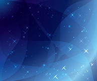 Blue background - vector wavy and shiny Royalty Free Stock Images