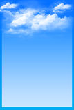 Blue background with white clouds Royalty Free Stock Photography