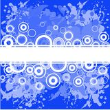 Blue background with white rings Royalty Free Stock Photos