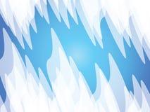 Blue background. White sharp shapes on blue background Stock Photography