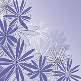 Blue background wit flowers. Vector illustration of a blue background wit flowers Royalty Free Stock Photo
