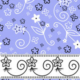 Blue Background With A Horizontal Stripe Stock Photos