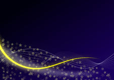 Blue background with yellow stars Royalty Free Stock Images