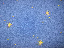 Blue background with yellow stars Stock Photos