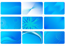 Blue backgrounds. Set of abstract blue backgrounds stock illustration