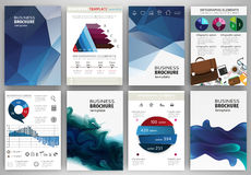 Blue backgrounds, abstract concept infographics and icons Royalty Free Stock Photography