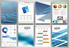 Blue backgrounds and abstract concept infographics Stock Photo