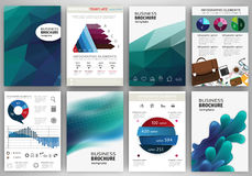 Blue backgrounds and concept infographics and icons Stock Photos