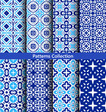 Blue backgrounds floral patterns Stock Photo