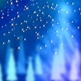 Blue Backgrounds New Year and Christmas Stock Image