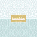 Blue backgrounds with seamless patterns. Ideal for printing Royalty Free Stock Images