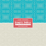 Blue backgrounds with seamless patterns. Ideal for printing Stock Photo