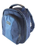 Blue backpack stock photos