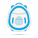 Blue backpack concept Stock Photo