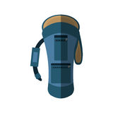 Blue backpack hike traveler front view shadow Royalty Free Stock Images