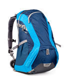 Blue backpack Stock Photo