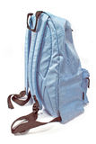 Blue backpack Stock Images