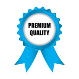 Blue badge. Special premium quality blue badge with ribbons,  illustration, eps10 Stock Photography