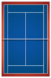 Blue badminton court layout Royalty Free Stock Image
