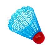 Blue badminton shuttlecock. Isolated on white  background Stock Photo