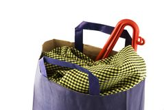 Blue bag Royalty Free Stock Photography