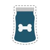 Blue bag food dog and cat nutrition line dotted. Illustration eps 10 stock illustration