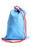 Blue bag for footwear. On a white background Royalty Free Stock Photography