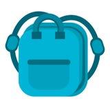 Blue bag school pupil Royalty Free Stock Photos