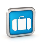 Blue baggage icon Royalty Free Stock Images