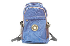 Blue bagpack Royalty Free Stock Images