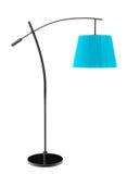Blue balanced floor lamp Stock Image