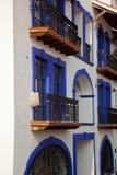 Blue balconies Stock Photography