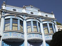 Blue balconies Royalty Free Stock Photo