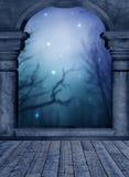 Blue Balcony Royalty Free Stock Photography