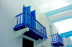 Blue Balcony Royalty Free Stock Images