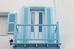 Blue Balcony and blue window Stock Photography