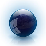 Blue ball. Illustration of blue ball on a white background Stock Photos