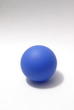 Blue Ball. Blue rubber ball on white background Royalty Free Stock Image