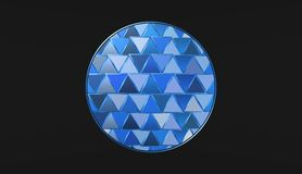 Blue ball on black background, beautiful wallpapers, illustration. Blue ball on black background, beautiful wallpapers, best illustration stock illustration