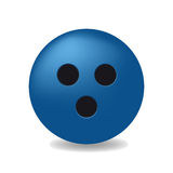 Blue ball with the black holes Stock Photography